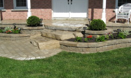 nice steps made with natural stones